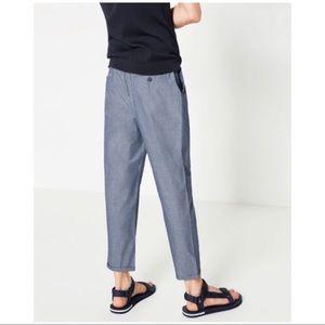 aa3adf06 Zara Pants | Nwt Man Cotton Trousers With Polka Dots Sz 36 | Poshmark